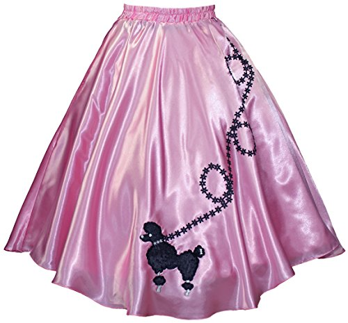 3 BIG NOTES - Adult SATIN Poodle Skirt Size Large (35