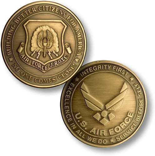 - Northwest Territorial Mint JROTC New Air Force Emblem Bronze Antique Challenge Coin