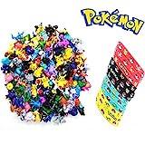 Jinhuamike Pokemon Theme Party Decorations Supplies Bundle Favors Pack-24 Mini Action Figures,12 Bracelets Kids & Adult Party Celebration