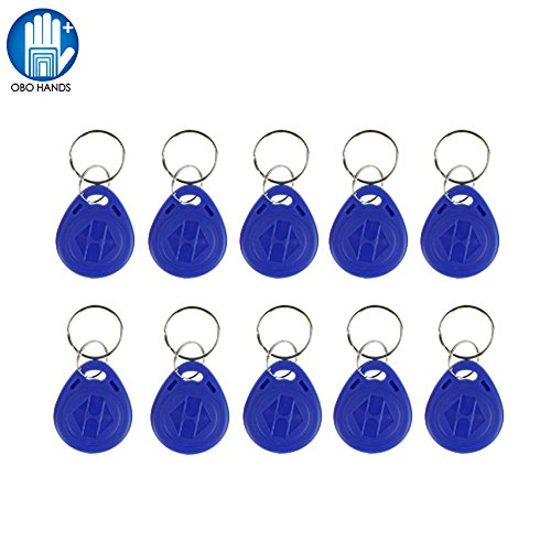 OBO Hands EM4305 Copy Rewritable Writable Duplicate RFID Tag - Can Copy EM4100 125khz Card Proximity Token Keyfobs (50) by OBO Hands