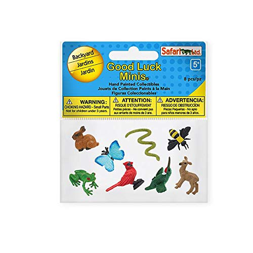 Safari Ltd. Good Luck Minis Fun Pack - Backyard - 8 Pieces - Phthalate, Lead and BPA Free - for Ages 5+