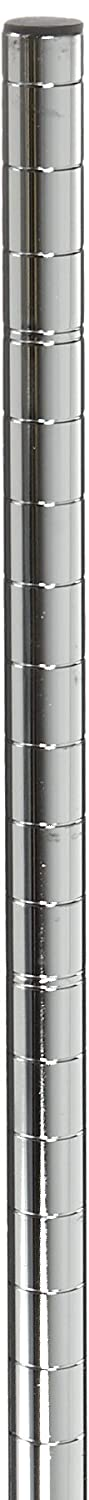Metro 74P Metro Site Select Chrome Plated Steel Stationary Post, 1 Diameter x 74-5/8 Height (Pack of 4) InterMetro Industries