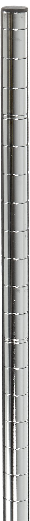 Metro 74P Metro Site Select Chrome Plated Steel Stationary Post, 1'' Diameter x 74-5/8'' Height (Pack of 4)