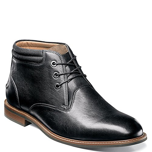 Florsheim Men's Frisco Chukka Boot,Black Smooth Leather,US 10 (Black Smooth Chukka)