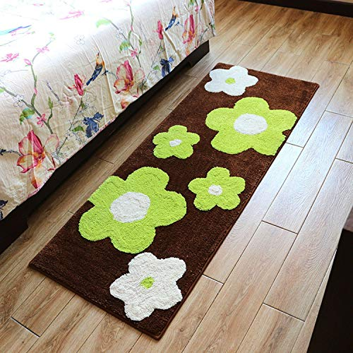 Rectangle Floral Bedroom Rugs Kitchen Mats Cushions Bathroom Non-Slip Absorbent Carpet Coffee Table Mats