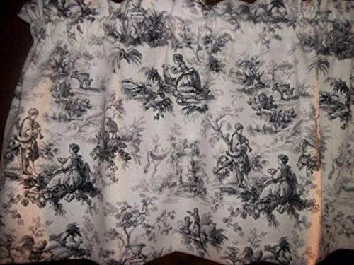 Amazon Com Toile Black Gray Chicken Rooster Waverly Fabric Country Curtain Valance Matching Throw Pillow Cover Available Handmade
