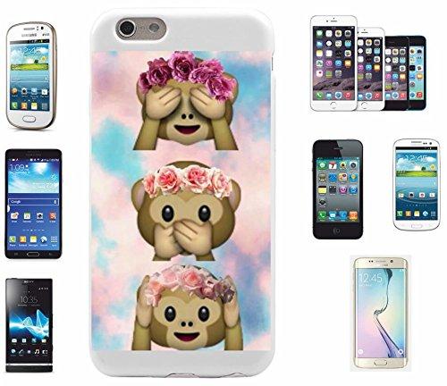 """Smartphone Case Apple IPhone 4/ 4S """"Drei Affen Nichts Böses Sehen Sagen Hören mit Wolken"""", der wohl schönste Smartphone Schutz aller Zeiten."""