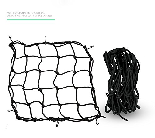 Etbotu Motorcycle Luggage Package Net Bag Rope Helmet Storage Pouch Bags Back Seat Net Bag