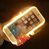 Eprosperous Illuminated Selfie Case light up LED cell phone cases for iPhone 6 plus 6S plus hard back cover with Logo (Green)