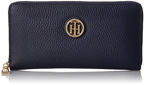 Tommy Hilfiger Lucky Charm Pebble Zip Wallet, Navy, One Size (Tommy Hilfiger Pebble)