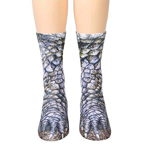 Sagton® Mode Dier Poot Crew Sokken, Vrouwen Man Volwassen 3d Print Vloer Sokken D