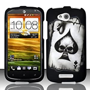 For HTC One VX (AT&T) Rubberized Design Cover Case - Spade Skull