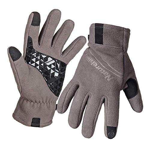 Men's Winter Gloves Winter Gloves Gloves Cycling Touchscreen Warm Young Cycling Hiking Winter Orang Blue Black Gray Violet (Color : Grün, Size : S) (Violett Grün)