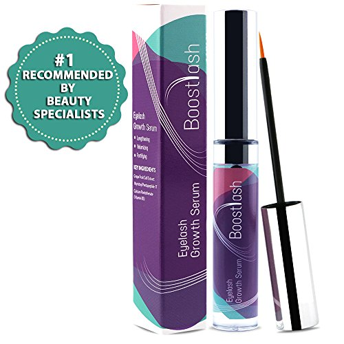 Eyelash & Eyebrow Growth Serum by Boostlash (5ml) Grows Longer Thicker Fuller & 3X Healthier Lashes & Brows (in 30 days), Proudly Made in USA. Premium Quality Ingredients Using Grape Stem Cell Extract