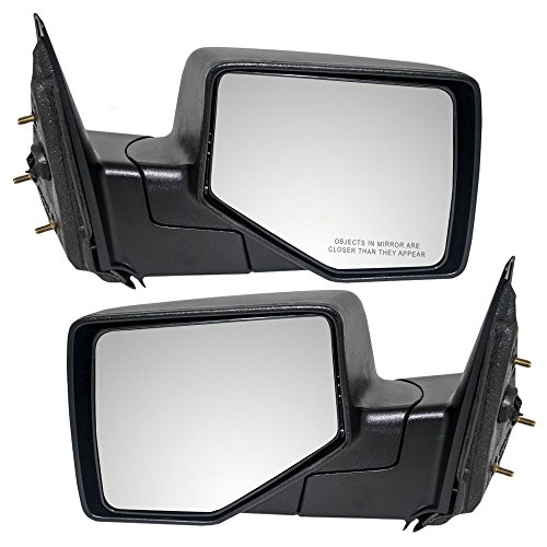 Driver and Passenger Manual Side View Mirrors Replacement for Ford Pickup Truck 8L5Z17683BA ()