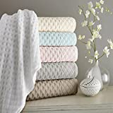 Kassatex Diamant Collection Towel Sets, 18 Piece Set (6 Bath, 6 Hand, 6 Wash) - White