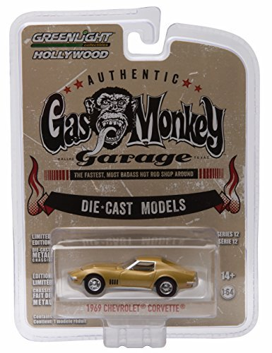 - 1969 CHEVY CORVETTE from the show GAS MONKEY GARAGE * GL Hollywood Series 12 * 2016 Greenlight Collectibles Limited Edition 1:64 Scale Die Cast Vehicle