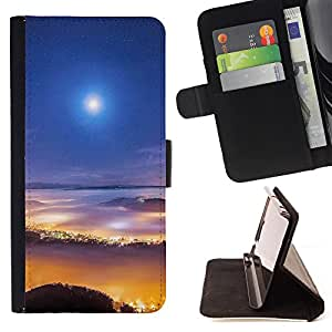 King Case - FOR Samsung Galaxy S4 Mini i9190 - Young is the weapon - Prima caja de la PU billetera de cuero con ranuras para tarjetas, efectivo Compartimiento desmontable y correa para la mu?eca