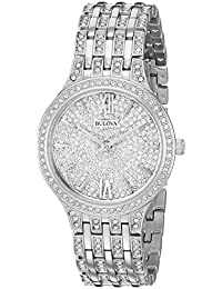 Women's Quartz Stainless Steel Casual Watch, Color Silver-Toned (Model: 96L243)