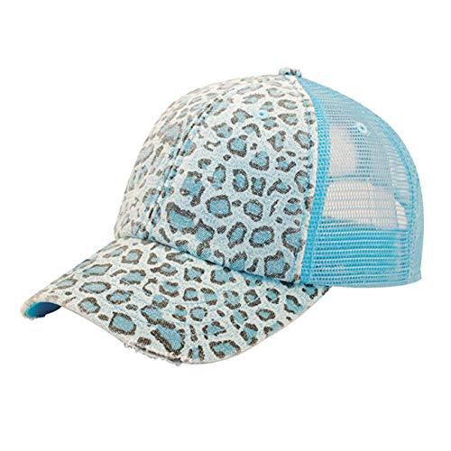 Low Profile Soft Structured Canvas Leopard Print Cap(Blue) ()