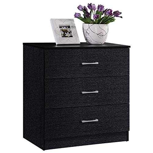 Pemberly Row 3 Drawer Chest in Black