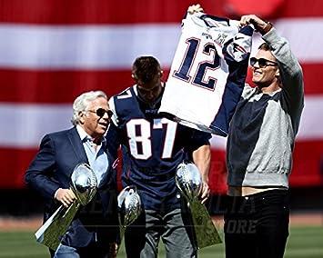 the best attitude d882b 1c42a Tom Brady New England Patriots Super Bowl LI Jersey 11x14 ...