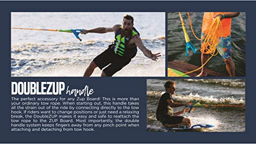 ZUP DoMore Board and 2.0 Handle Combo All-in-One Performance Board with Tow Hook, Trainer Board, Wakeboard, Kneeboard and Water Skis for Water Sports, Boating