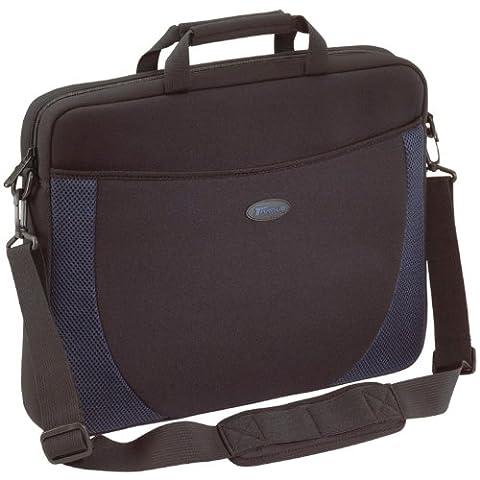 Targus Neoprene Sleeve Designed for 17-Inch Notebooks, Black/Blue Accents (CVR217) (Blue Laptop 17)