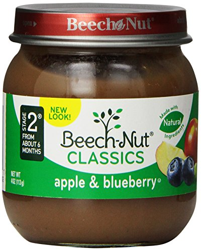 Beech-Nut Classics, Apple & Blueberry, 4 Ounce