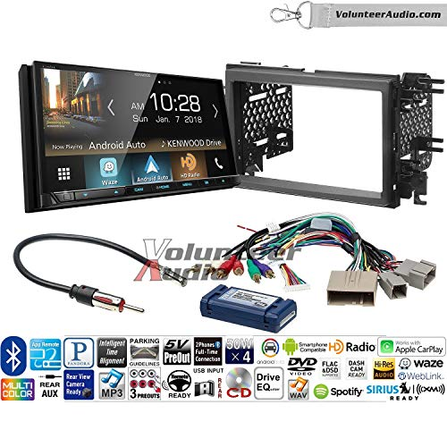 Volunteer Audio Kenwood Excelon Ddx8905s Double Din Radio Install Kit With Apple Carplay Android Auto Bluetooth Touchscreen Fits 2007 2010 Edge With Factory Amplified Sound