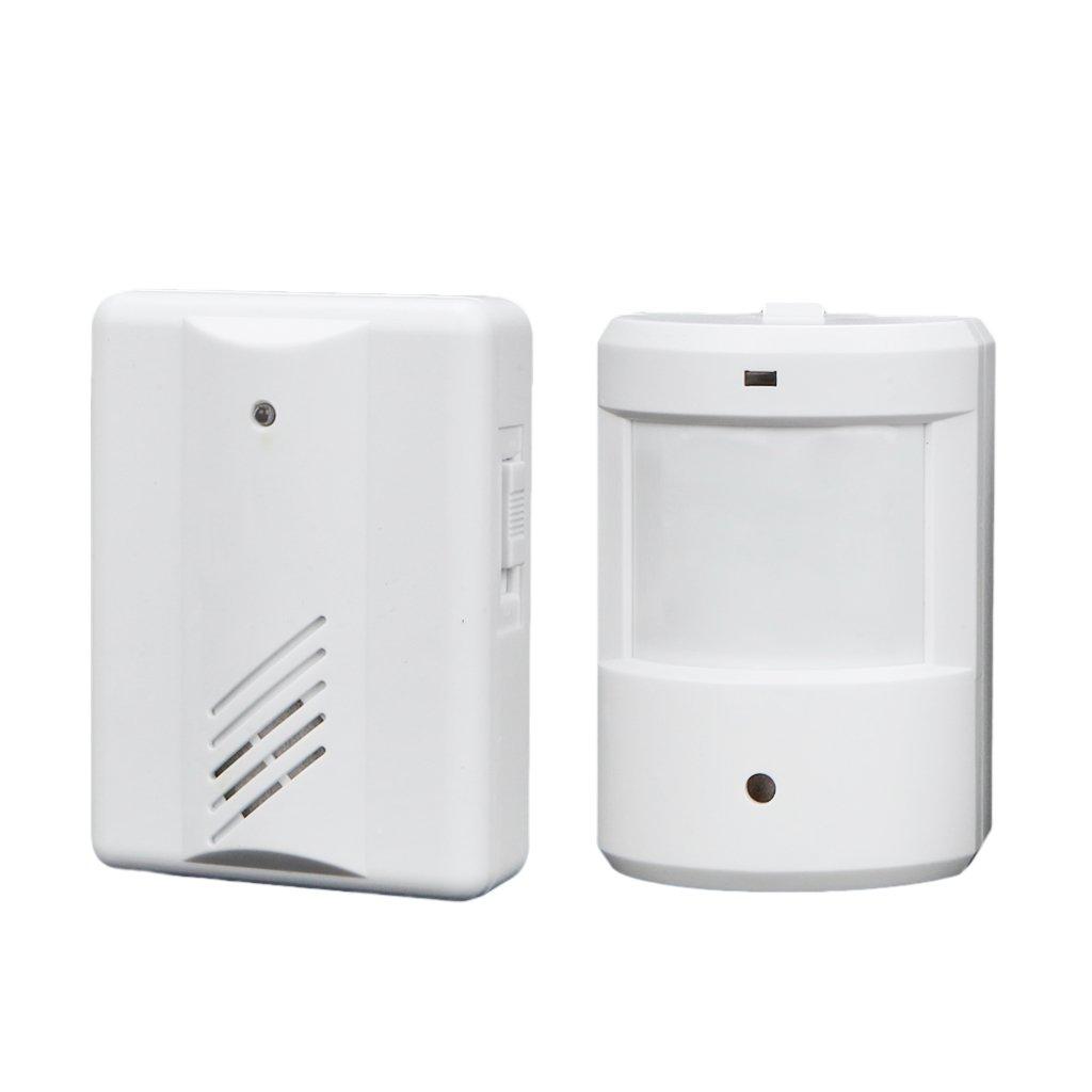Baoblaze Digital LCD Cordless Door Chime 16 Chime Tunes Infrared Motion Sensor Door Bell Remote