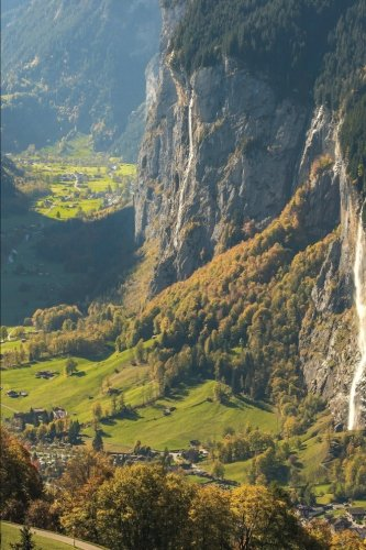 View of Valley at Lauterbrunnen Switzerland Journal: 150 page lined notebook/diary