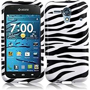 HR Wireless Kyocera Hydro Edge Design Protective Cover - Retail Packaging - Zebra