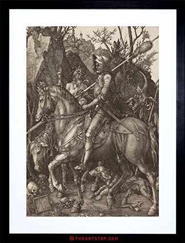 - The Art Stop Painting Albrecht Durer Knight Death Devil Old Master Framed Print F97X2655