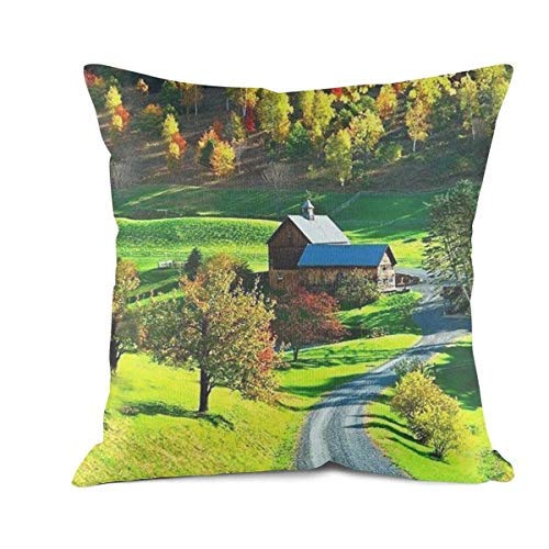 LUDEM Divine Kingdom HD Wallpaper Pillow Cover Square Art Decorative Sofa Cushion Pillowcases 18x18 Inch