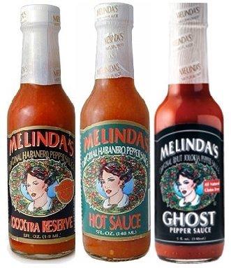 (Melinda's Habanero Hot Sauce Variety 3pk (Extra Hot, XXXXtra Reserve, Ghost)