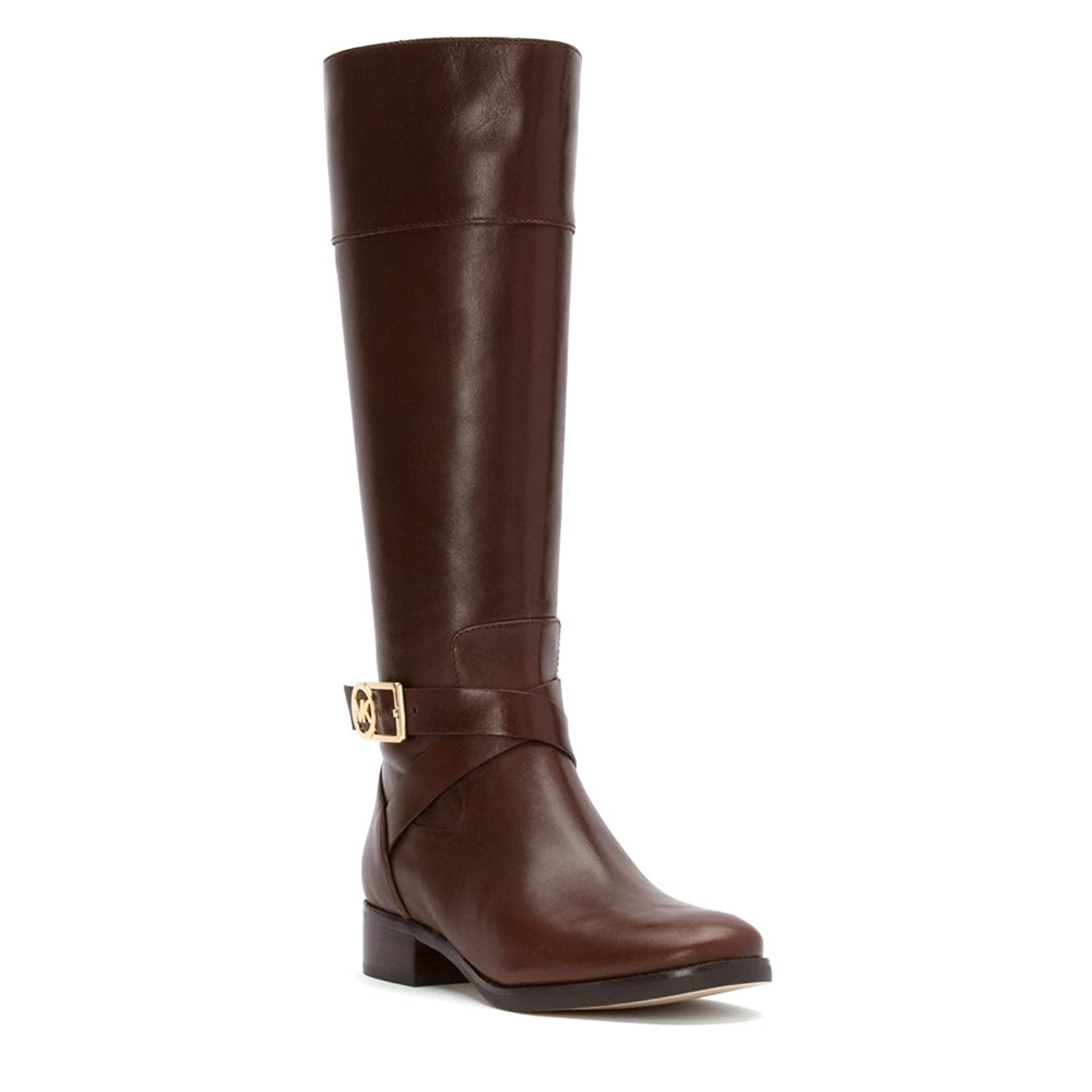 Amazon.com | Michael Kors Women's Leather Bryce Riding Boots ...