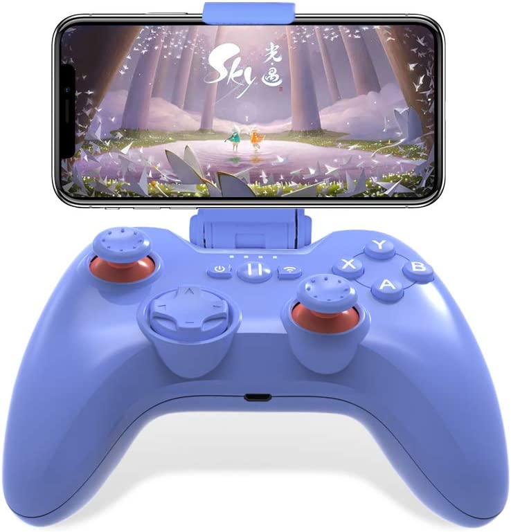 Mfi Game Controller for iPhone PXN Speedy(6603) iOS Gaming Controllers for Call of Duty Gamepad with Phone Clip for Apple TV, Ipad, iPhone (Blue)