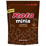 Rolo Minis Unwrapped mini Chewy Caramels In Milk Chocolate, 8-Ounce Pouch (Pack Of 3)