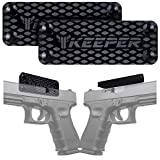 Magnetic Gun Mount & Holster for Vehicle and Home - HQ Rubber Coated 35 Lbs - Gun Magnet Firearm Accessories. Concealed Holder for Handgun, Rifle, Shotgun, Pistol, Revolver, Truck, Car, Safe (2-Pack)