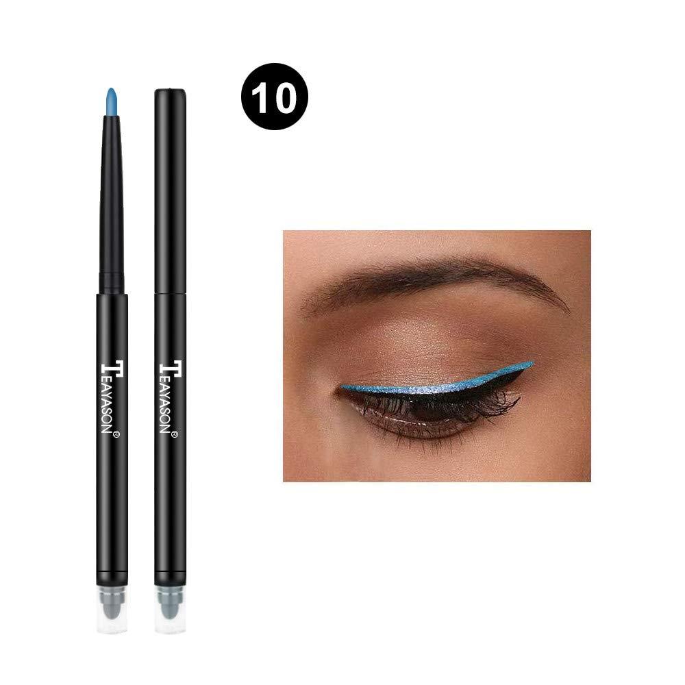 GoodLock Hot!! 12 Colors Fashion Eyeliner Women Ladies Glitter Eye Shadow Lip Liner Eyeliner Pencil Pen Makeup Cosmetic Long-Lasting Colorful Makeup