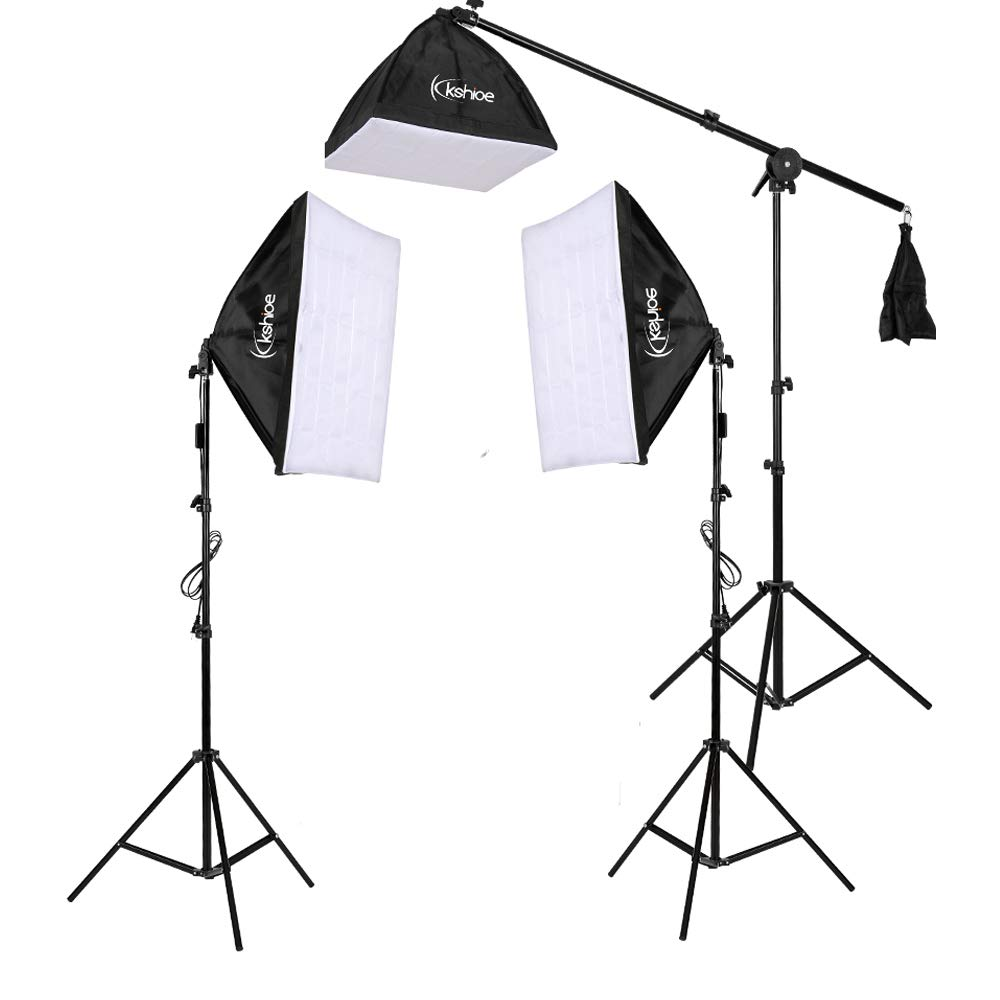 Kshioe Photography Lighting Kit, Umbrella Softbox Set Continuous Lighting with 6.5ftx9.8ft Background Stand Backdrop Support System for Photo Studio Product, Portrait and Video Shooting by Kshioe (Image #5)