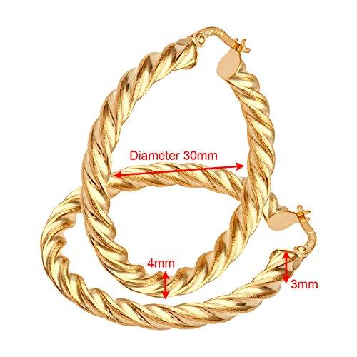 Citerna - RIL1405Y - Boucles d'oreille Femme - Or Jaune 375/1000 (9 Cts) 2.7 Gr - Verre