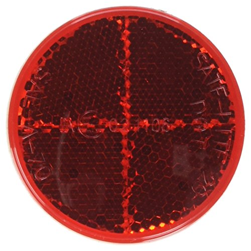 Grote 41002 Red Round Stick-On Reflector