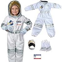 زي رائد الفضاء يلا بيبي للأولاد والبنات، ازياء تنكرية 5 قطع (3-8 سنوات، 80-110 سم)
