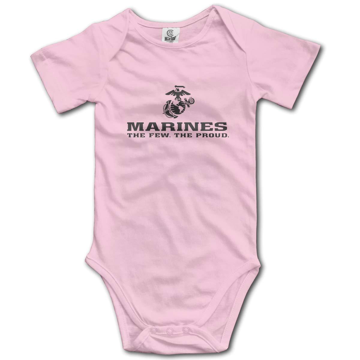 FAFU/&SKY USMC The Few The Proud Marines Corps Newbaby Baby Romper Summer Short Sleeve Onesie