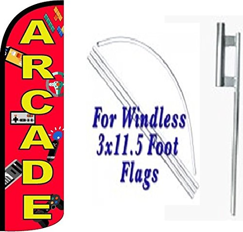 arcade-windless-swooper-feather-flag-sign-kit-with-pole-and-ground-spike