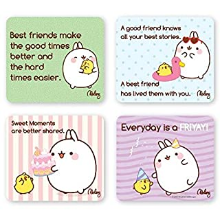 MOLANG Refrigerator Magnets - QUOTABLE Set of 4
