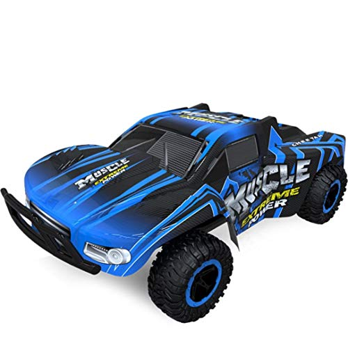 Remote Nitro Control Gas Car (Cinhent Toys, 1:16 2WD High Speed RC Racing Car Truck Off-Road Buggy Toys, Electronic Remote Control Racing Vehicle Games, Exercise Kids' Coordination Ability Hands, Eyes Brain (Blue))