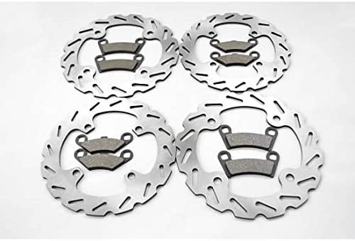 Front and Rear Brake Pads and Sport Rotors from Cycle ATV for Polaris 800 RZR